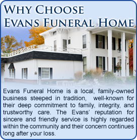Why Choose Evans Funeral Home